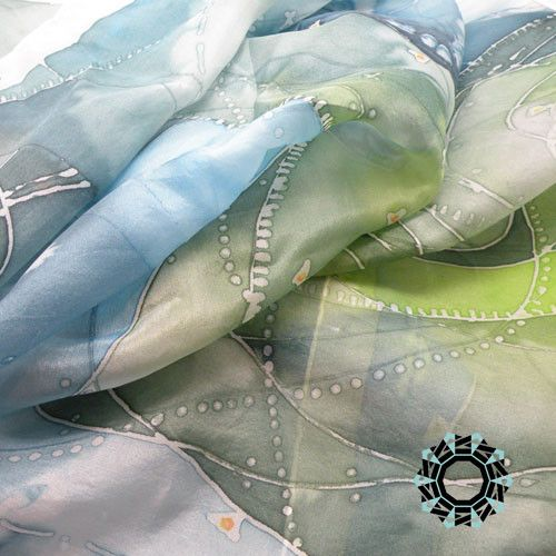 Hand painted silk scarf by TenderDecember on HandmadeInEurope