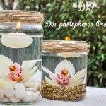 Idée décoration mariage : les photophores orchidée, DIY, tuto, mariage, wedding, photophore, bougie, candle, decor, jar