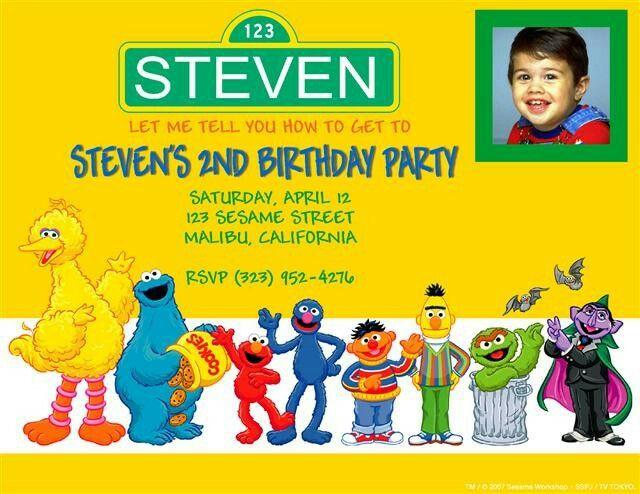 475 best Sesame Street Barrio Sesamo images – Custom Elmo Birthday Invitations