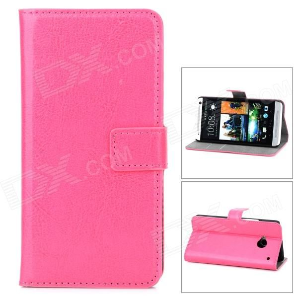 Brand: N/A; Quantity: 1 Piece; Color: Deep pink; Material: PU Leather; Compatible Models: HTC M7; Other Features: Protects your device from scratches, dust and shock; Packing List: 1 x Case; http://j.mp/1vnYmXi