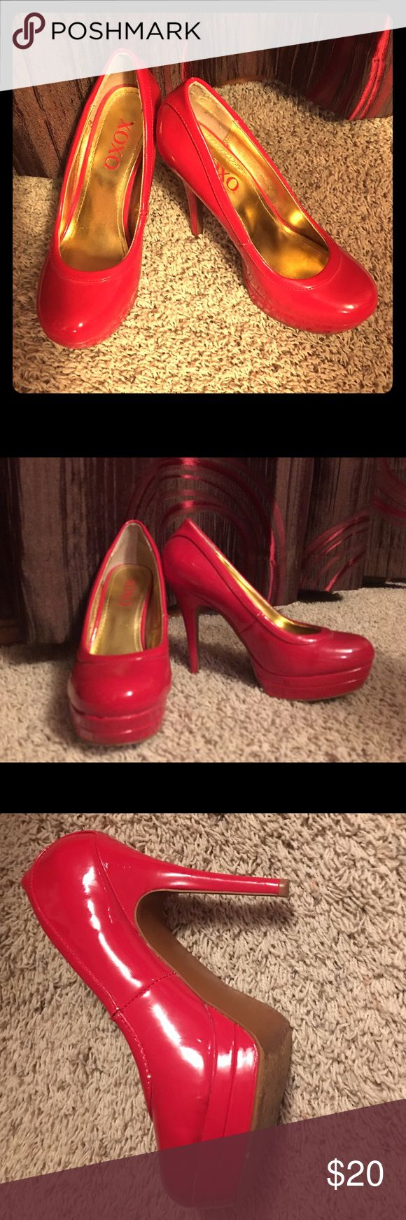 XOXO Red platform Sz 8 pumps Lightly worn red XOXO red platform pumps that POP👠 XOXO Shoes Heels
