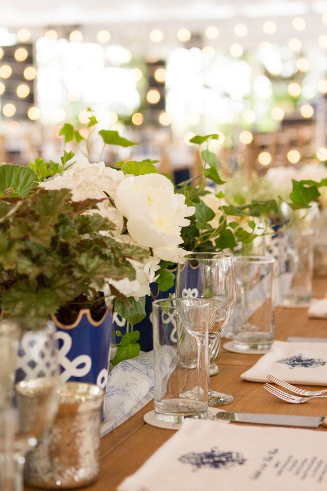 Preppy Blue and White Lowndes Grove Wedding I Richard Ellis Photography