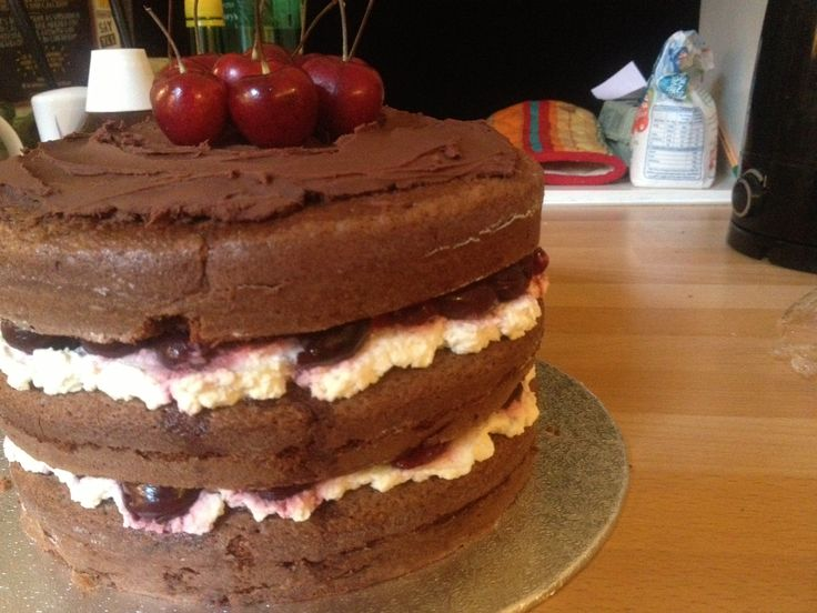 Black forest gâteau. Recipe on BBCGoodFood.