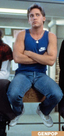 Always wanted Emilio Estevez' iconic cerulean Nike shirt & sweatshirt like in The Breakfast Club :)
