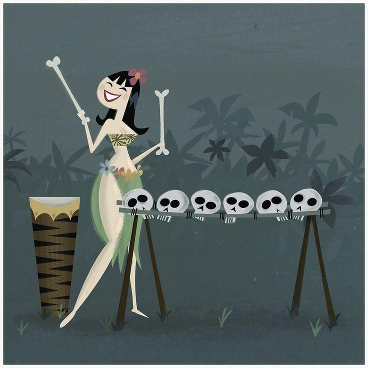 Hawaiian Skull Xylophone