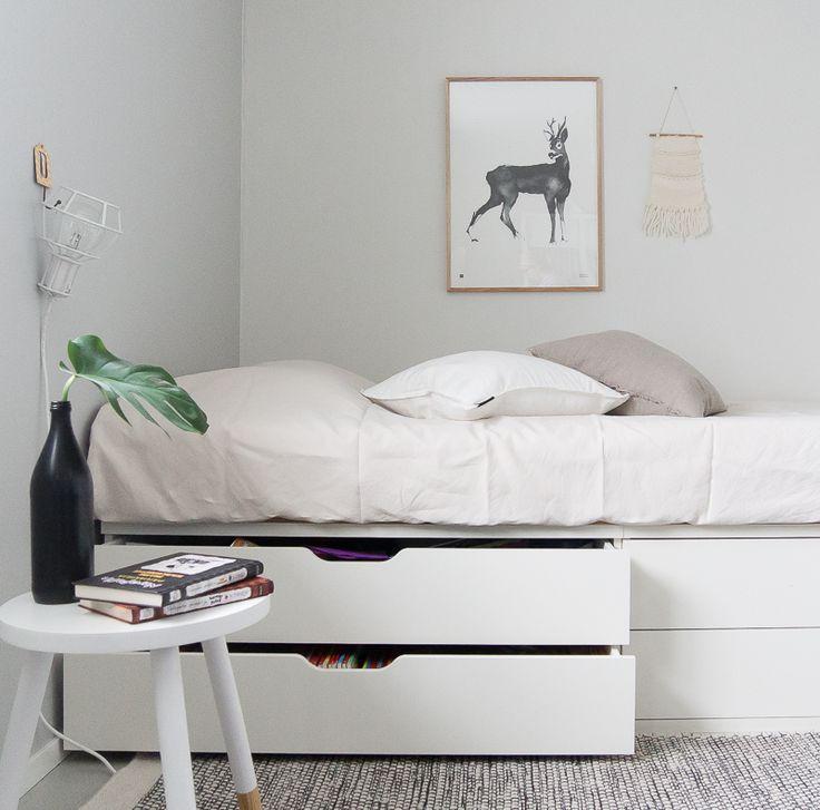 Säilytystilaa ja käytännölisyyttä lastenhuoneeseen! Valmista tyylikäs sänkyratkaisu IKEA Stuva penkeistä ja säästät lattiatilaa lasten leikeille. Katso ohjeet kuvineen nyt HIMASTA.