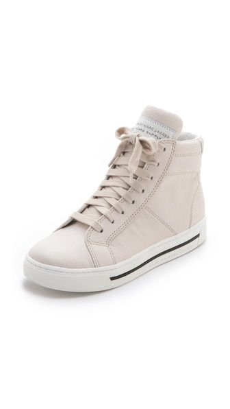 Marc by Marc Jacobs High Top Sneakers in off white via @Shopbop. Online shopping must have.