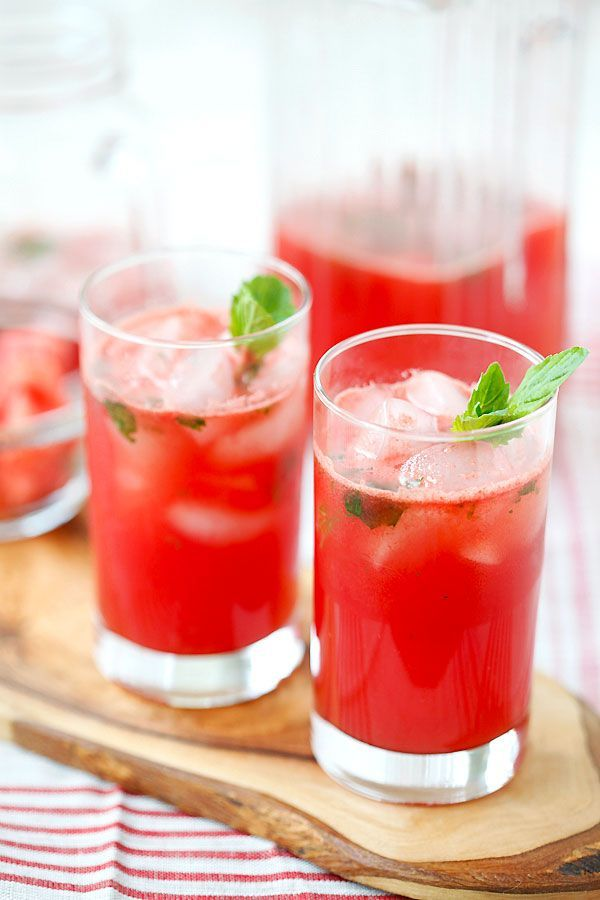 Watermelon Tequila Cocktail #booze #watermelon #cocktail