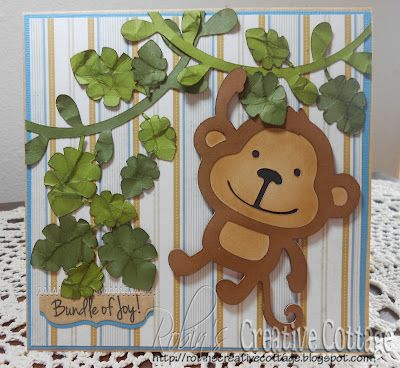 Robin's Creative Cottage: Monkey for Baby Card -My Craft Spot Project