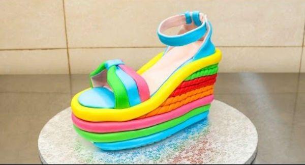 Cómo hacer una tarta en forma de zapato de plataforma - QUIEROCAKES