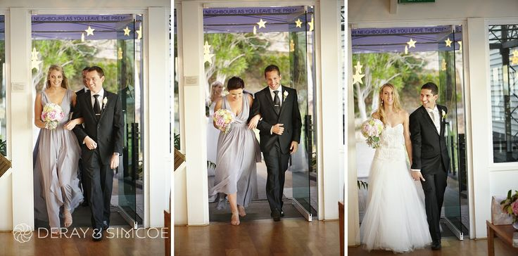 Bridal party making their entrance. Wedding reception styling, ideas and inspiration.  Reception Venue: Mosman's Restaurant  Photography by DeRay & Simcoe