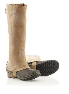 SOREL Slimpack Riding Boots (on sale!) are waterproof and lined with microfleece...making them the perfect winter boot.