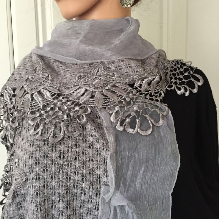 Scarf by Morsta of London in Silver Grey
