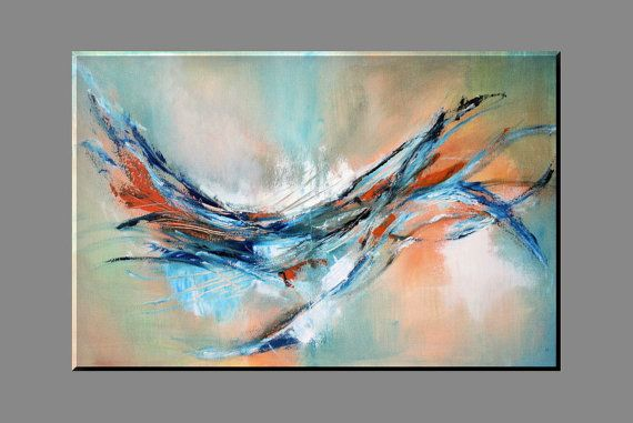 FREE SHIPPING Acrylic paintingabstract painting by KamikaArt