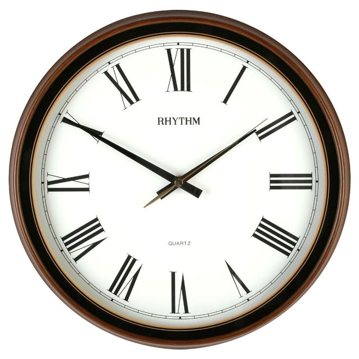 High Quality Rhythm Wall Clock with Silent Sweep Time Keeping - No more ticking Rhythm clock movements are high quality Japanese movements which is