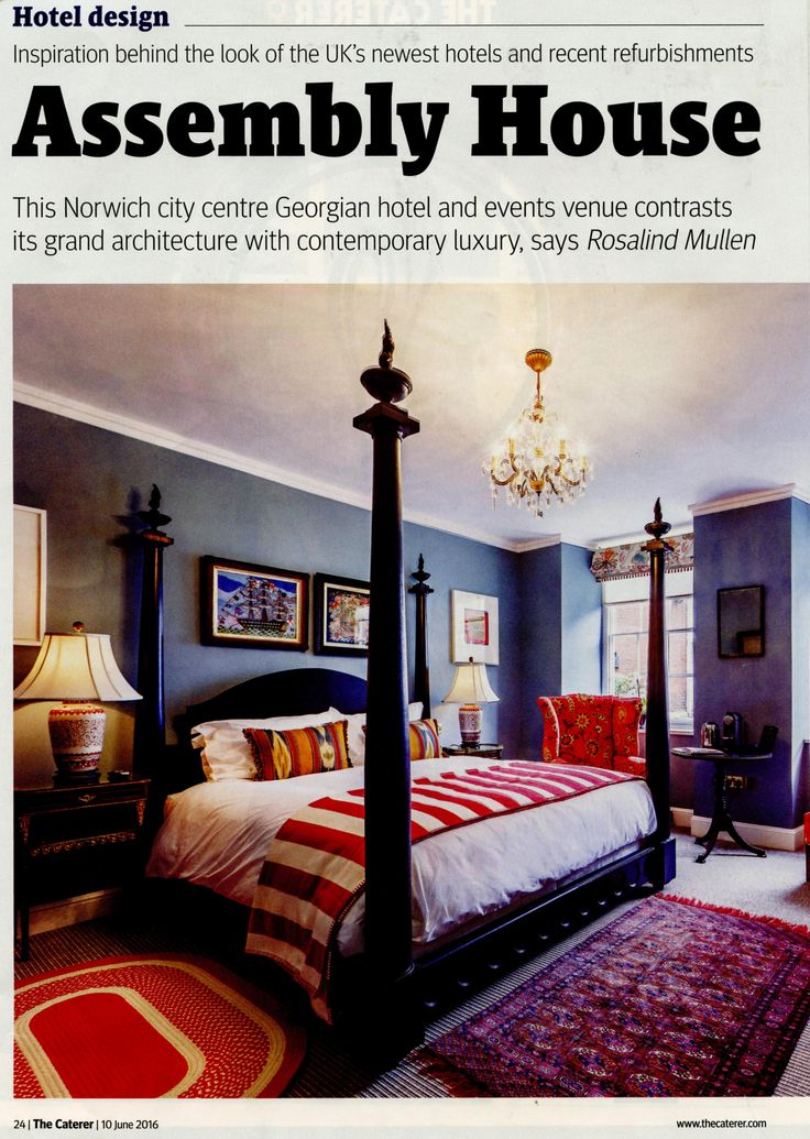 Our big black Mayfair four-poster bed modernizes the traditional idea of luxury http://simonhorn.com/ The Caterer June 2016