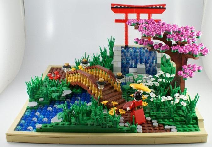 Lego Asian scene... Beautiful!