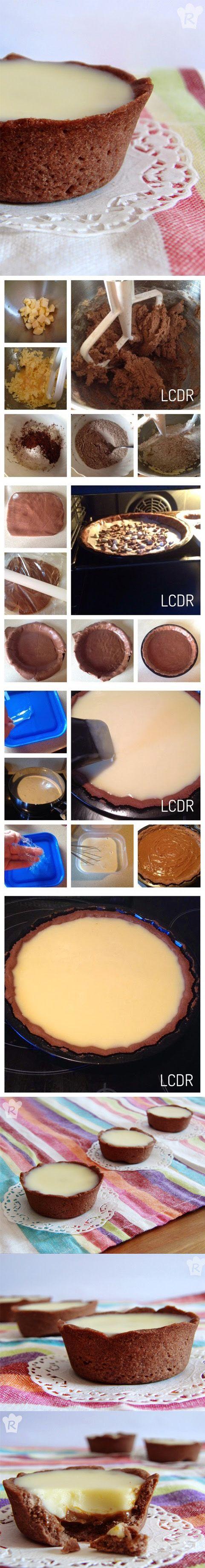 Tartaletas de chocolate y caramelo - Pecados de Reposteria