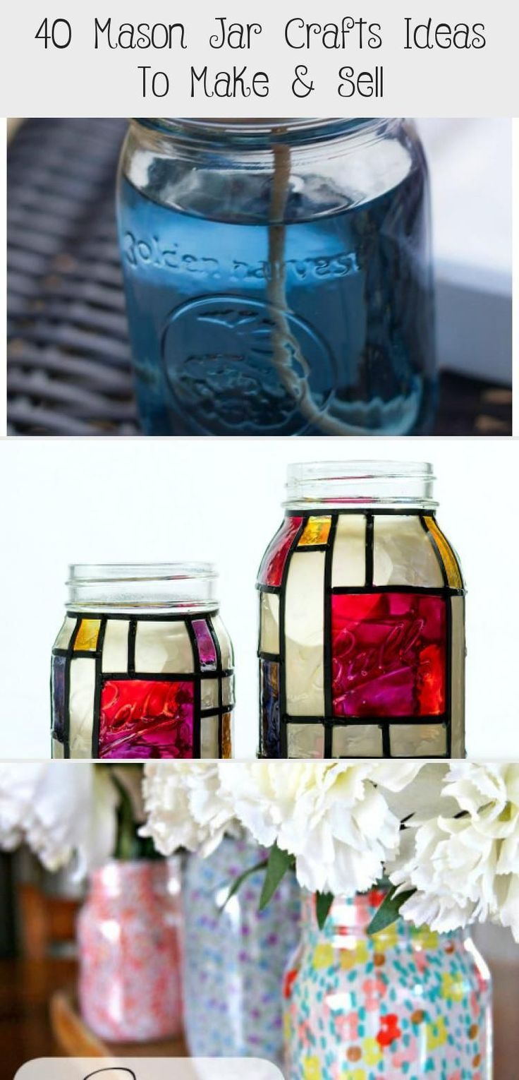 40 Mason Jar Craft Ideas to Sell Big DIY IDeas crafts