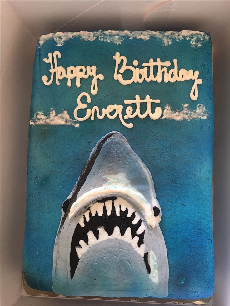 Best 25 Shark Cake Ideas On Pinterest Shark Party