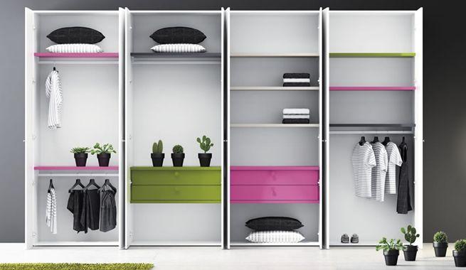 Pr cticos y modernos vestidores a la vista armarios - Armarios modernos para dormitorios ...