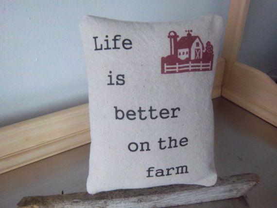 Country farmhouse pillow handmade prairie by SweetMeadowDesigns