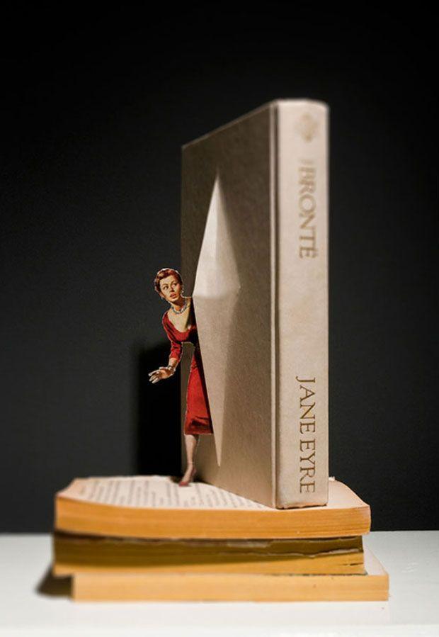 Fotógrafo-artista faz personagens saltarem de livros
