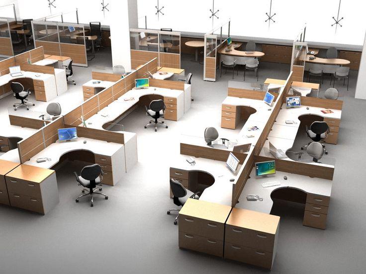 Sistemas modulares para oficina sistema 2100 muebles for Mesas para oficinas modernas