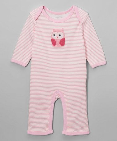 Another great find on #zulily! Pink Stripe Owl Sleep & Play Footie #zulilyfinds