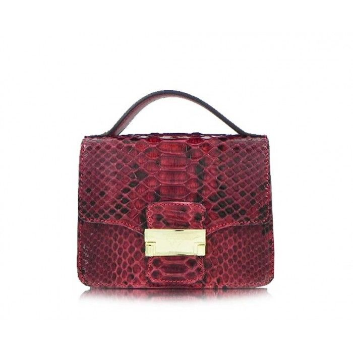 Ghibli luxury ladies red python handbag