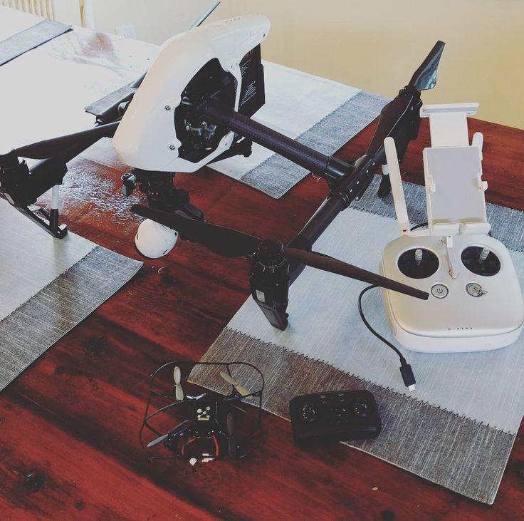 #DRONE - Big bro & little bro... #Neutron2.4 GHz Indoor/Outdoor#quadcopter & My #DJIinspire1 ... Thanks @dronenerds!  #djiinspire#djiglobal#picoftheday#aerial #dronebois#dronestagram#dronegear #aerialcinematography#aerialphotography#photodrone #followdron