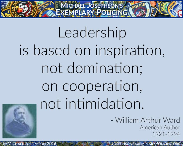 """""""Leadership is based on inspiration, not domination; on cooperation, not intimidation."""" – William Arthur Ward, American Author 1921-1994 Related Post Make a Difference Don't settle for contentment.SEEK FULFILLMENT.Do... Abraham Lincoln """"The best way to destroy an enemy is to make him y... What my friends think I do What my friends think I do, what my girlfriend thi... Vince Lombardi ... Read More"""