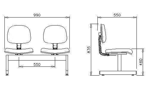 Sistema Móveis - Móveis e Cadeiras para escritório Longarina Secretária