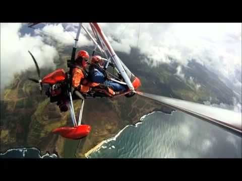 Experience a fantastic bird's-eye-view of beautiful Kauai! Here is a short video with music highlighting a powered hang glider flight over Kauai, Hawaii. On our Kauai Helicopter Tour from Lihue, you will enjoy amazing sights on a 60 or 90 minute tour of the island. This is an excellent overview and introduction to all of Kauai's scenic wonders. Book now easily with Reserve123!
