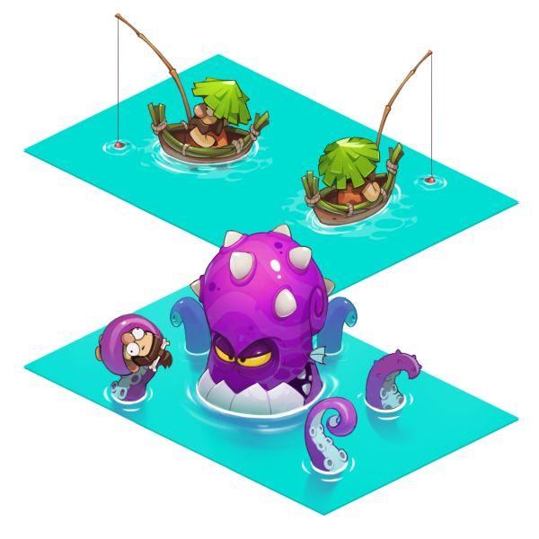 AdventureEra | Character Design| Dmitrii dmn Nechitailo | UI HUD User Interface Game Art GUI iOS Apps Games | www.girlvsgui.com