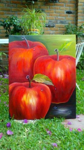 Manzanas al óleo                                                                                                                                                                                 Más
