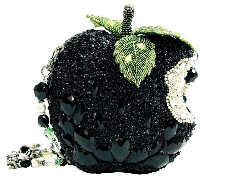 Mary Frances Handbag Wicked Black Apple Crystal Beaded Jeweled Shoulder Bag New #MARYFRANCES #PURSEHANDBAGShoulderBag