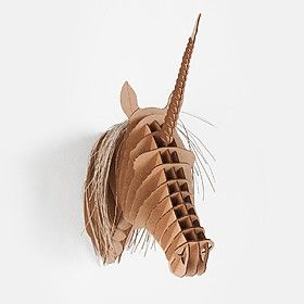 Cabeza de Unicornio de Cartón
