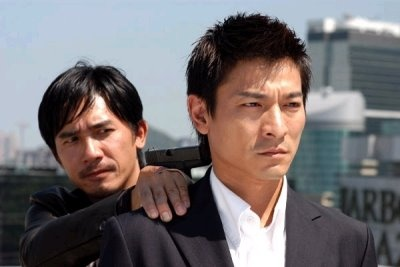 "Andy Lau and Tony Leung in ""Infernal Affairs"" (2002)"