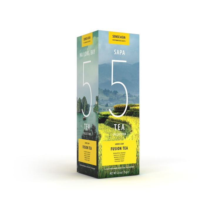Vietnam Delight 5 fusion teas - with 15 tea pouches inside!!! #tea #Vietnam #gift #fusiontea