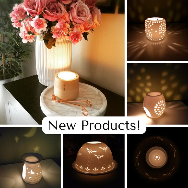 New Italian Carrara Marble Platter / Tray and Tea Light Candle Shadow Projection Lanterns!