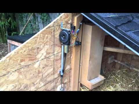 My solar powered, self sustaining fully automatic chicken coop. With a solar powered automatic Cadillac antenna door, Food for a month, and water that never ...