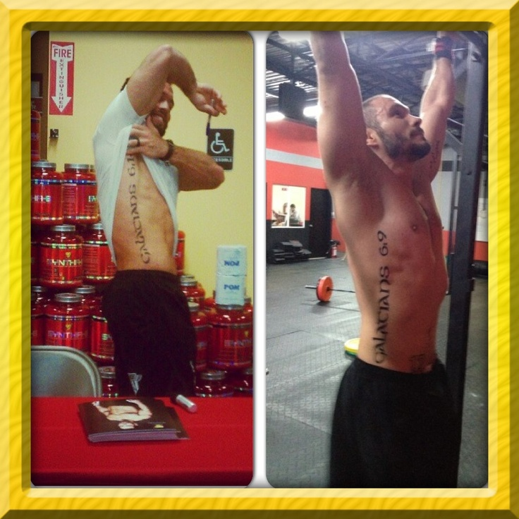 Rich Froning Back Tattoo