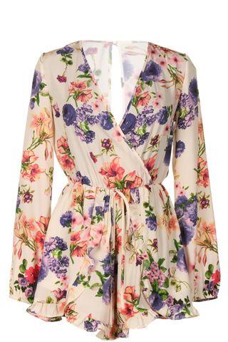 Plus Size Spring Romper, , Jumpsuits & Rompers, vendor-unknown, Elohai Plus Size Boutique - 1