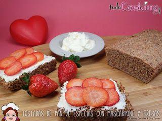 "Tostadas de pan de especias ligero con mascarpone y fresas - Todo Cooking - ""Kate & Leopold"""
