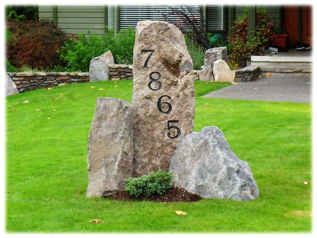 17 best ideas about address signs on pinterest address for Landscaping rocks vancouver