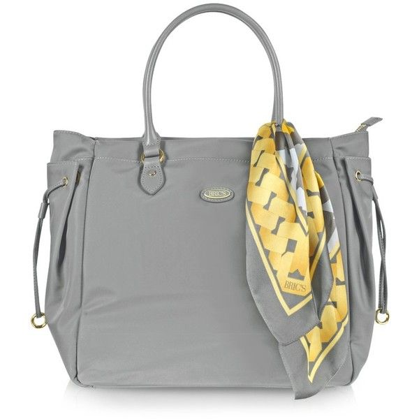 Bric's Venezia - Large Nylon Tote ($270) ❤ liked on Polyvore featuring bags, handbags, tote bags, grey, сумки, grey handbags, nylon tote, brics handbags, gray purse and gray tote bag