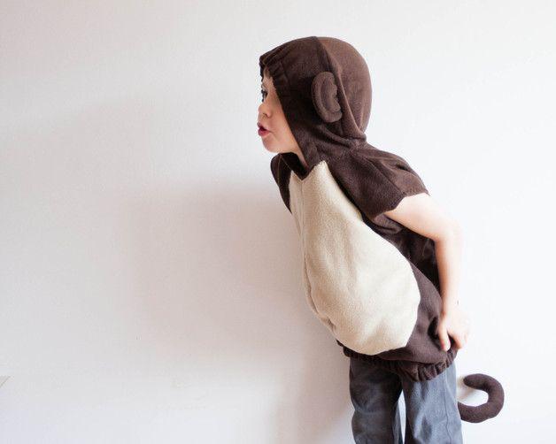 Kostüme für Kinder - Äffchen-Kostüm 5-6 Jahre, Affenkostüm für Kinder - ein Designerstück von oKidz bei DaWanda