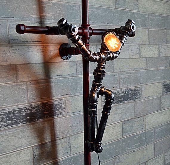 Articles similaires à Industriel nuit lampe Pipe …
