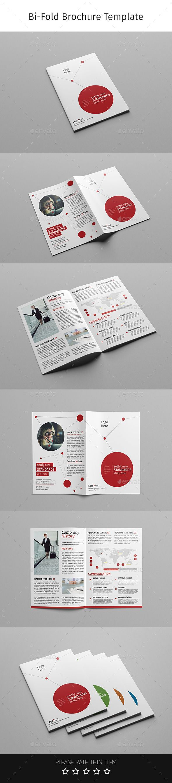 Corporate Bi-fold Brochure Template PSD #design Download: http://graphicriver.net/item/corporate-bifold-brochuremultipurpose-07/14405603?ref=ksioks